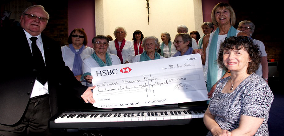 Donation to Erewash Phoenix Choir