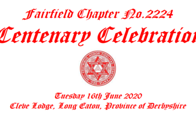 Centenary Celebration – Fairfield Chapter No.2224