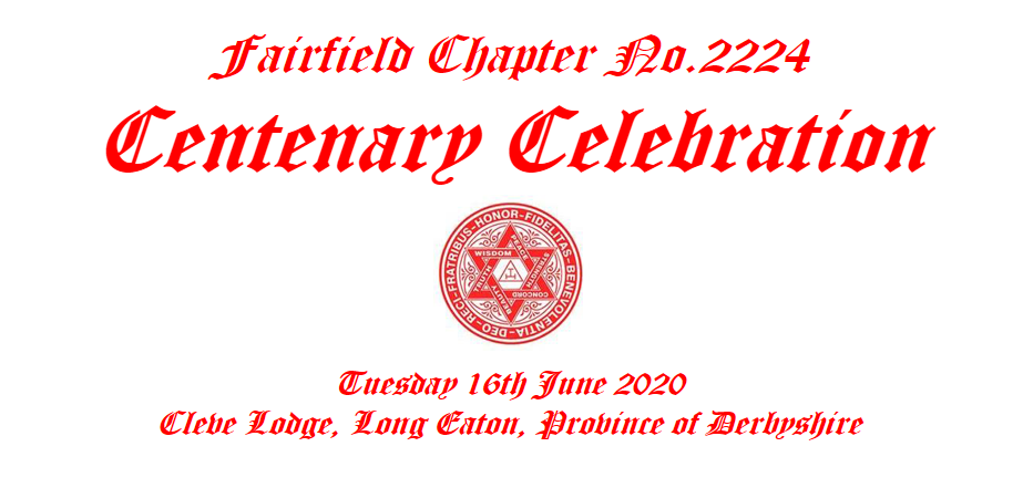 Centenary Celebration – Fairfield Chapter No.2224